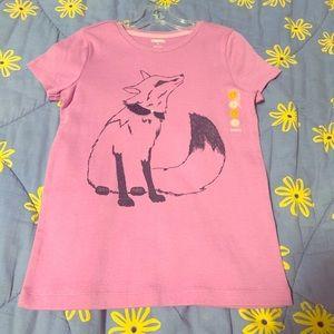 Gymboree Sz 6 Purple T-shirt Glitter Fox New w tag